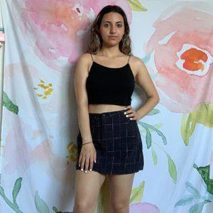 Forever21 Navy Plaid Skirt